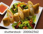 spring rolls with lobster...