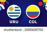 uruguay vs colombia match...   Shutterstock .eps vector #2000630702