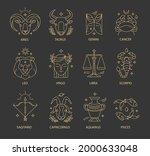 zodiac sign set. astrology... | Shutterstock .eps vector #2000633048