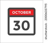 red and black calendar icon w...   Shutterstock .eps vector #2000633795