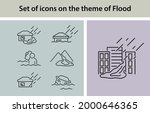 set of icons on the theme of... | Shutterstock .eps vector #2000646365