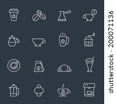 coffee icons | Shutterstock .eps vector #200071136