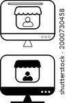 merchant sign. merchant icons... | Shutterstock .eps vector #2000730458