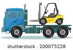 truck with forklift   Shutterstock .eps vector #200075228