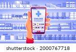 online pharmacy concept  hand... | Shutterstock .eps vector #2000767718