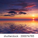 sunrise sea background | Shutterstock . vector #200076785