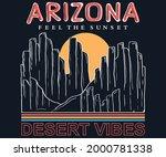 arizona mountain retro design....   Shutterstock .eps vector #2000781338