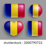 glossy buttons with romania... | Shutterstock .eps vector #2000790722