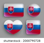 glossy buttons with slovakia... | Shutterstock .eps vector #2000790728