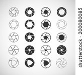 camera shutter icon set  each... | Shutterstock .eps vector #200080085