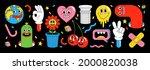 sticker pack of funny cartoon... | Shutterstock .eps vector #2000820038