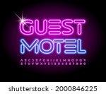 vector travel sign guest motel. ... | Shutterstock .eps vector #2000846225