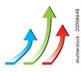 3d arrows pointing upwards  ... | Shutterstock .eps vector #20008648