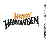 happy halloween vector... | Shutterstock .eps vector #2000878382