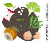 compost. kitchen scraps  fruits ...   Shutterstock .eps vector #2000888138