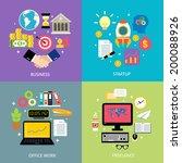 business workflow types concept ... | Shutterstock .eps vector #200088926
