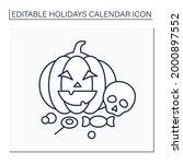 halloween line icon. october 31.... | Shutterstock .eps vector #2000897552