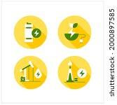 energy flat icons set. oil  gas ...