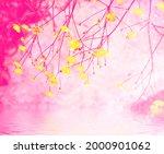 Blurred. Bright Yellow Flowers...