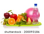 fitness equipment and healthy...   Shutterstock . vector #200093186