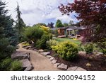 a path meanders between... | Shutterstock . vector #200094152