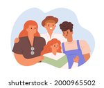 happy family portrait with...   Shutterstock .eps vector #2000965502