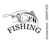 vector fishing design... | Shutterstock .eps vector #200097425