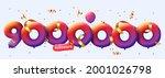 9000000 followers thank you 3d... | Shutterstock .eps vector #2001026798