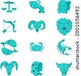 zodiac sign set. astrology... | Shutterstock .eps vector #2001056492