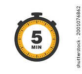 five minutes icon isolated on... | Shutterstock .eps vector #2001076862