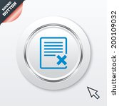 delete file sign icon. remove...