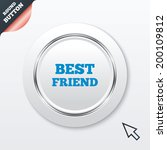 best friend sign icon. award...