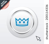 crown sign icon. king hat...
