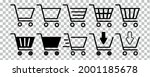 grocery trolley icon set....   Shutterstock .eps vector #2001185678