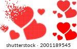 damaged pixelated romantic...   Shutterstock .eps vector #2001189545