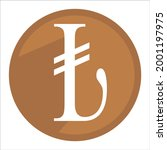 turkish lira icon. currency...   Shutterstock .eps vector #2001197975