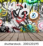 Graffiti On Wall  Eps 10