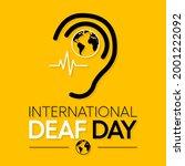 world deaf day is observed... | Shutterstock .eps vector #2001222092