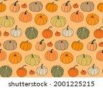 Bright Autumn Vector Seamless...