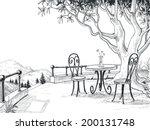 Restaurant Terrace Sketch