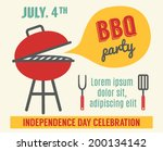 happy independence day of... | Shutterstock .eps vector #200134142