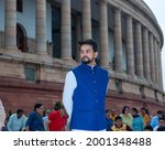 Small photo of New Delhi, India- September 6 2019: Anurag Thakur Mos Finance attending an event at parliament house.