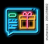 gift notification message neon...