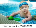 small child in the pool