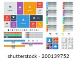 web design elements  buttons ... | Shutterstock .eps vector #200139752