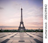 trocadero and eiffel tower at... | Shutterstock . vector #200139842