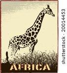 Africa Image With Giraffe...