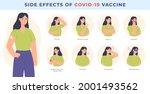 vaccine side effect. covid 19... | Shutterstock .eps vector #2001493562