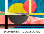 abstract geometric watercolor... | Shutterstock . vector #2001500702