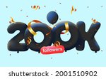 banner with 200k followers... | Shutterstock .eps vector #2001510902
